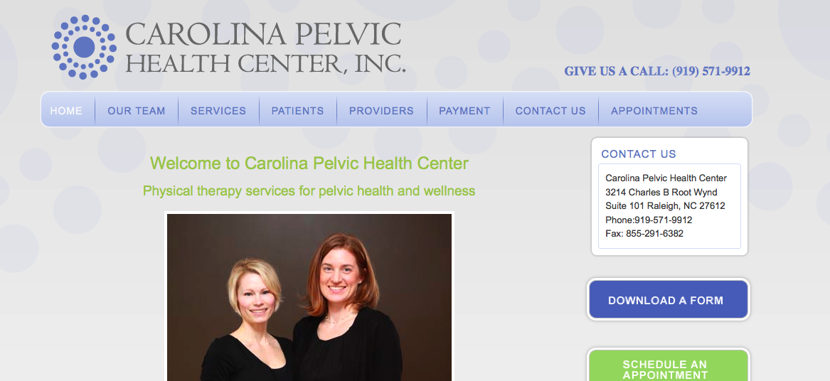 Carolina Pelvic Health Center Raleigh NC